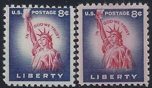 "1041 Color Shift Error / EFO ""Statue Of Liberty"" Mint NH (Stk7)"