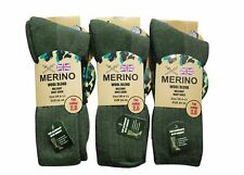3 pairs Men's Merino Wool Blend Military Work Boot thermal Winter Socks 2.8 Tog