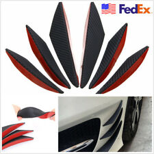 6 Pcs Carbon Fiber Color Car SUV Front Bumper Decoration Fins Spoiler USA Stock