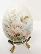 Collectible Ceramic Stone Porcelain Egg On A Decorative Stand
