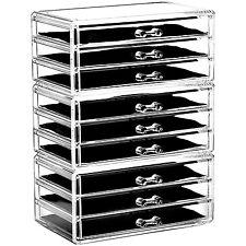 Ikee Design Acrylic Jewelry & Makeup Organizer Cosmetic Storage Drawer Three pcs