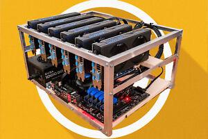6 GPU Open Air Gehäuse Halterung Alu Mining Frame Open Case Mining Rig Miner