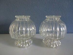 Tolle VINTAGE Ersatzgläser-Tischlampe-Bubble Glas-true Midcentury