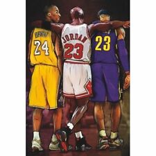 Michael Jordan Kobe Bryant Lebron James - NBA Basketball Poster