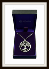 TREE OF LIFE PENDANT NECKLACE ~ SACRED KNOWLEDGE TREE ~ PEWTER ~ FROM ST. JUSTIN