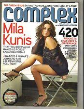 MILA KUNIS Complex Magazine 4/08 HAROLD & KUMAR DANICA PATRICK