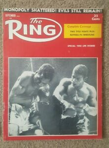 Lot of 25 Vintage 1950s The Ring Boxing Magazines. Sugar Ray, Floyd P. + More.