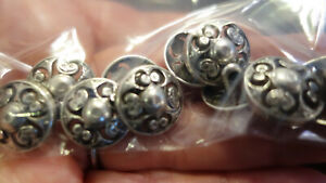 10 XSILVER METAL BUTTONS – SHANK,  CUT OUT 15 MM  (56)