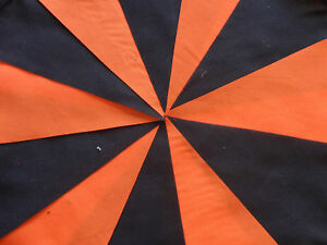Halloween Handmade Fabric bunting 20ft ~ 20 flags free post
