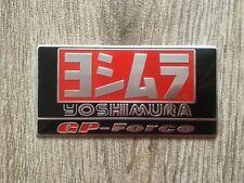 Yoshimura Metal Badge Exhaust Sticker Decal Heatproof 90mm x 45mm