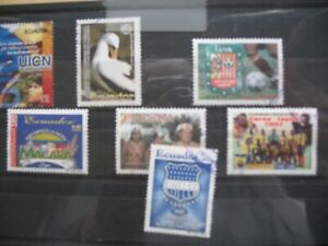 ECUADOR LOT OF USED STAMPS YEAR 2002 ALL DIFFERENT
