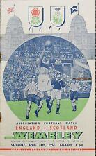 More details for england v scotland (home international @ wembley)1951 match day programme.