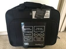 "NEW ANTLER BUSINESS 200 15.6"" LAPTOP TROLLEY OFFICE BLACK BAG BUSINESS NOTEBOOK"