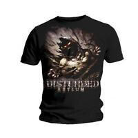 Disturbed T Shirt Asylum Official Black Mens. Metal Rock Classic Tee All Sizes