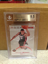 SKYBOX ROOKIE 2008 - 09 RED RUBY MICHAEL BEASLEY  BGS 9.5  / 50 RARE SP