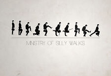 A3 Poster - Monty Python Ministry of Silly Walks (Comedy DVD Blu-Ray Picture)