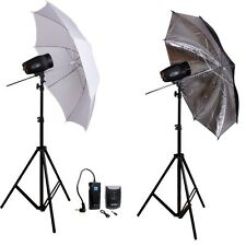 Godox 2* 180Ws 360Ws MINI STUDIO FLASH LIGHTING STAND Umbrella PHOTOGRAPHY  KIT
