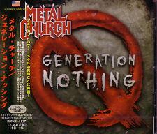 METAL CHURCH Generation Nothing + 1 JAPAN CD Vanderhoof Savatage John West