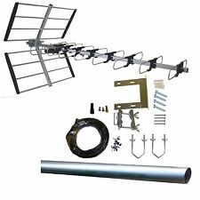 Digital TV Aerial kit 48 Element HD Freeview outdoor/loft 32 52 arial antenna