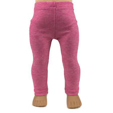 """Heather Pink Leggings - Doll Clothes - Handmade for 18"""" American Girl Dolls"""
