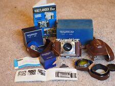 MINT!!! VOIGTLANDER Prominent Rangefinder Camera 2 lens, accessories, boxes