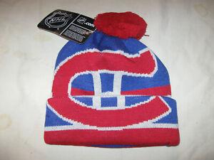 Montreal Canadiens Beanie Hat Cap New W/Tags Youth 8-20 Boys Cuffed NHL POM