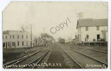 RPPC C&MV Railroad Depot Station BREMEN OH Ohio Real Photo Postcard
