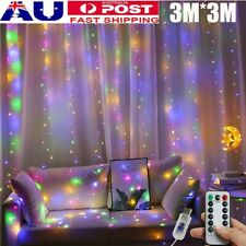 280 LED Rainbow Curtain Fairy Lights Wedding Indoor Outdoor Christmas Party S9