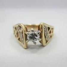 14k yellow GOLD engagement ring 1/3 ct round diamond G SI1 .30 carat women band