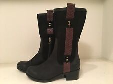UGG Jaspan Black Leather & Suede Riding Boots Size 5 #1004206