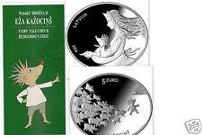 Latvia Silver Fairy Tale Hedgehog Lettland 5 euro Silbermünze 2016 Märchen Igel