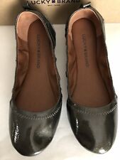 Lucky Brand Woman LK-Eleesia Flat Shoes US Size 7M Brindle Hami Mirror (~olive)