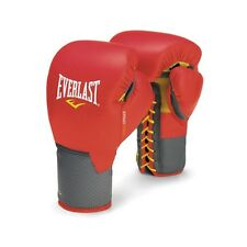 NEW Everlast C3 Leather Pro Laced Boxing Gloves Size: 18 oz. Color: Red
