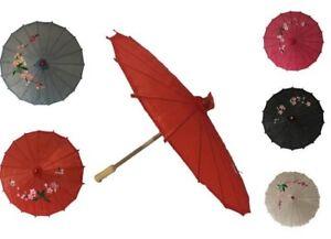 Bamboo Rib Polyester Paper Umbrella Parasol Dancing Wedding Party Decor 5 Colour