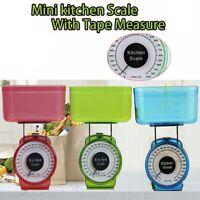 Kitchen Scale Food Baking Mechanical Dial Compact Bowl Cook Random Color 1kg H
