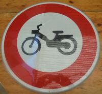 ancien Panneau accès interdit aux cyclomoteurs Signalisation Routière  cycliste