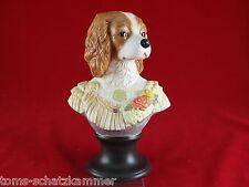 Goebel Aristo Dogs Porzellan Büste Lady Charles Spaniel Thierry Poncelet Hund