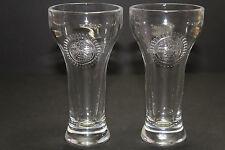 """2 Miller Chill Mini Pilsner Sampling Glasses -- 4 1/2"""" Tall"""