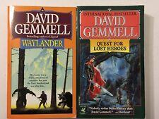 Lot Of 2 David Gemmell Paperback Books Waylander Quest For Lost Heroes Fantasy