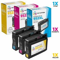 LD © 3pk Comp Ink Cartridge for HP 952XL 952 Color Cyan Magenta Yellow Combo