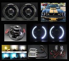 "H6012 H6015 H6024 7"" White LED Halo Black Projector Headlight HID 4.3K 6K 8K 10K"