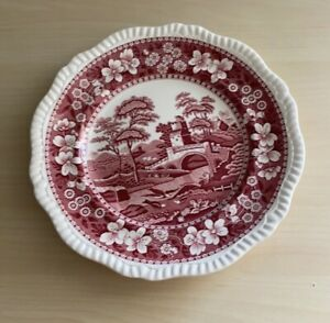 Red and Pink Decoritive Dinner Plate by Copeland Spode's Tower England