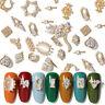 2 Teile Nagel Strasssteine Legierung Hohl Gold Metall 3D Nail Art Dekoration