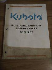 Kubota F2100 F2400 Mowers Parts Catalog Manual