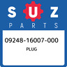 09248-16007-000 Suzuki Plug 0924816007000, New Genuine OEM Part