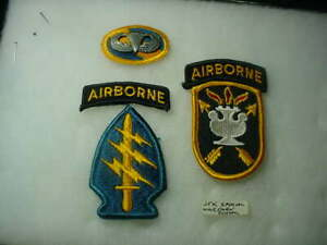 Special Forces Patch Oval W/Wings & JFK Special Warfare School Patch Airborne