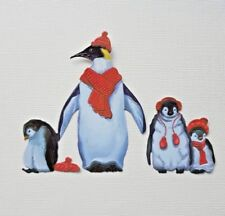 Die Cut Tattered Lace Christmas Harmony Mother & Baby Penguins Card Toppers