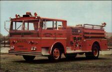 Manhasset Lakeville Long Island NY Fire Engine Ward LaFrance Adv Postcard