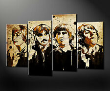 BEATLES Astratto Canvas Wall Art STAMPA FOTO Taglie Grandi Disponibili