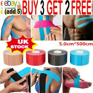 5 Roll Kinesiology Tape Sports Physio Knee Shoulder Body Muscle Support Protera